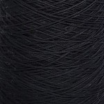 15 Black 4ply Soft Cotton