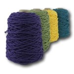 Macrame Cotton (4mm) Dyed – 450g Cones