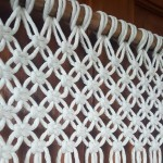 Macrame Single Twist Cotton(27 strand) pattern