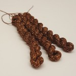 Glitter 4ply Metallic Yarn - copper