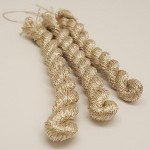 Glitter 4ply Metallic Yarn - platinum