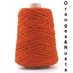 Coned Rug Wool - Oranges and Rusts
