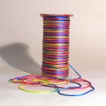 Rat Tail Macrame Cord - Fluro Multi