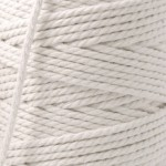 Recycled Cotton Cord Spools - White 12