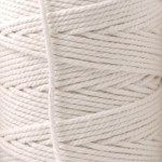 Recycled Cotton Cord Spools - White 10