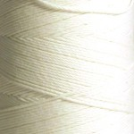 Cones of Polyester Yarn – Bleached White