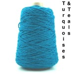 Coned Rug Wool - turquoises & teals
