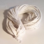 Recycled Cotton Cord - Hanks - White 10