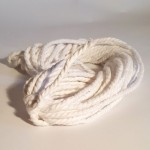 Recycled Cotton Cord - Hanks - White 12