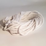 Recycled Cotton Cord - Hanks - White 8