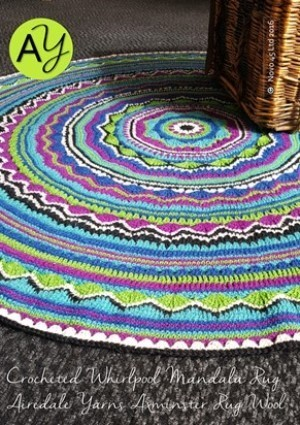 Axminster Whirpool Mandala Rug Crochet Pattern