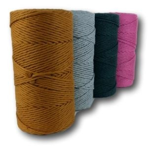 Macrame Cotton (4mm) Dyed – 900g